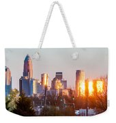 Charlotte Skyline In The Evening Before Sunset Weekender Tote Bag