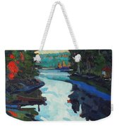Charlton Lake Camp Sunrise Weekender Tote Bag
