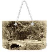 Charm Of Bow Bridge Weekender Tote Bag