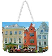 Charming Town Square In Old Town Tallinn-estonia Weekender Tote Bag