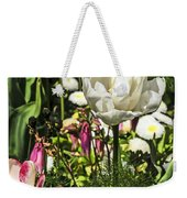 Chartres Garden White Weekender Tote Bag