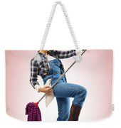 Charwoman On Pink Weekender Tote Bag