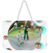 Chasing Bubbles - Red/cyan Filtered 3d Glasses Required Weekender Tote Bag