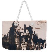 Chateau Fortified By Two Bridges Weekender Tote Bag by Victor Hugo