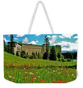Chateau Lake Louise In Banff Np-alberta Weekender Tote Bag