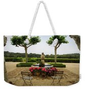 Chateau Malherbe Fountain Weekender Tote Bag by Lainie Wrightson