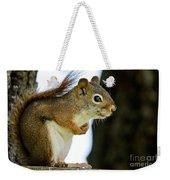 Chatty Squirrel Weekender Tote Bag