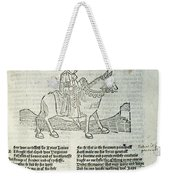 Chaucer: Prologue Weekender Tote Bag