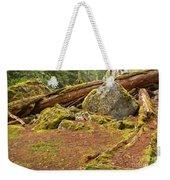 Cheakamus Rainforest Debris Weekender Tote Bag