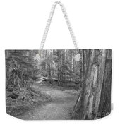 Cheakamus Trail In Black And White Weekender Tote Bag