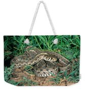 Checkered Garter Snake Weekender Tote Bag