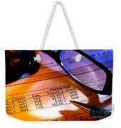 Checking Account Statement Weekender Tote Bag