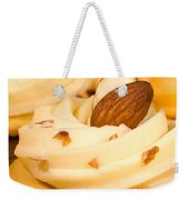 Cheddar Cheese On Crackers With Almonds Weekender Tote Bag