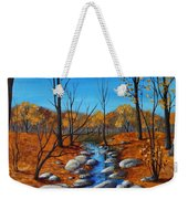 Cheerful Fall Weekender Tote Bag by Anastasiya Malakhova