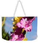Cheerful Gladiolus Weekender Tote Bag