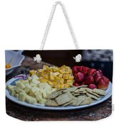 Cheese And Strawberries Weekender Tote Bag