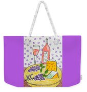 Cheese And Wine Weekender Tote Bag