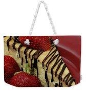 Cheesecake With Strawberries Weekender Tote Bag