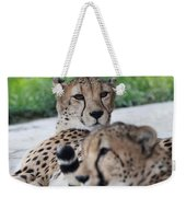 Cheetah Awakening Weekender Tote Bag