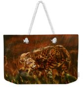 Cheetah Family After The Rains Weekender Tote Bag