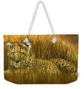 Cheetah - In The Wild Grass Weekender Tote Bag