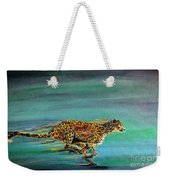 Cheetah Run Weekender Tote Bag