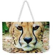 Cheetah Stare L Weekender Tote Bag