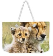 Cheetah Two Weekender Tote Bag