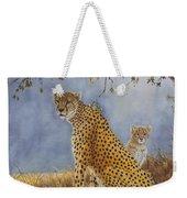 Cheetah With Cub Weekender Tote Bag