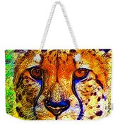 Face Of The Cheetah Weekender Tote Bag