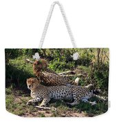 Cheetahs Of The Masai Mara Weekender Tote Bag
