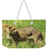 Cheetahs Running Weekender Tote Bag