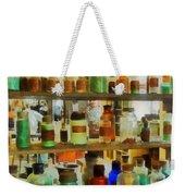 Chemistry - Bottles Of Chemicals Green And Brown Weekender Tote Bag
