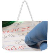 Chemistry Formulas In Science Research Lab Weekender Tote Bag