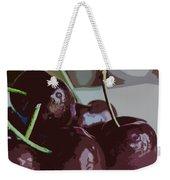 Cherries Abstract Weekender Tote Bag