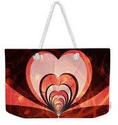 Cherries And Hearts Weekender Tote Bag