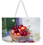 Cherries Weekender Tote Bag by Irina Sztukowski