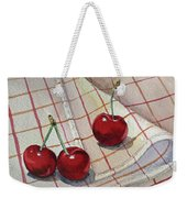 Cherry Talk By Irina Sztukowski Weekender Tote Bag
