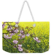 Cherry Blossom And Rapeseed Weekender Tote Bag