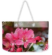 Cherry Blossom Greeting Card With Verse Weekender Tote Bag