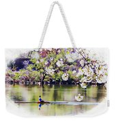 Cherry Blossom Rower Weekender Tote Bag