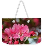 Cherry Blossoms And Greeting Card Blank Weekender Tote Bag