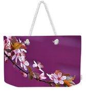 Cherry Blossoms And Plum Door Weekender Tote Bag