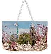 Cherry Blossoms And The Sacred Heart Weekender Tote Bag