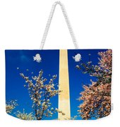 Cherry Blossoms At The Monument Weekender Tote Bag