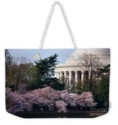 Cherry Blossoms Jefferson Memorial Weekender Tote Bag