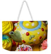 Cherry Teapot And Cupcakes Weekender Tote Bag