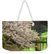 Cherry Blossom Temple Boat Weekender Tote Bag