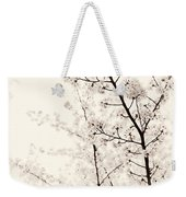 Cherry Tree Blossom Artistic Closeup Sepia Toned Weekender Tote Bag
