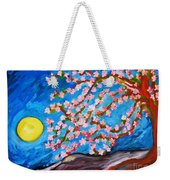 Cherry Tree In Blossom  Weekender Tote Bag by Ramona Matei
